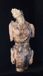 Figurative clay sculpture by Louise Pentz